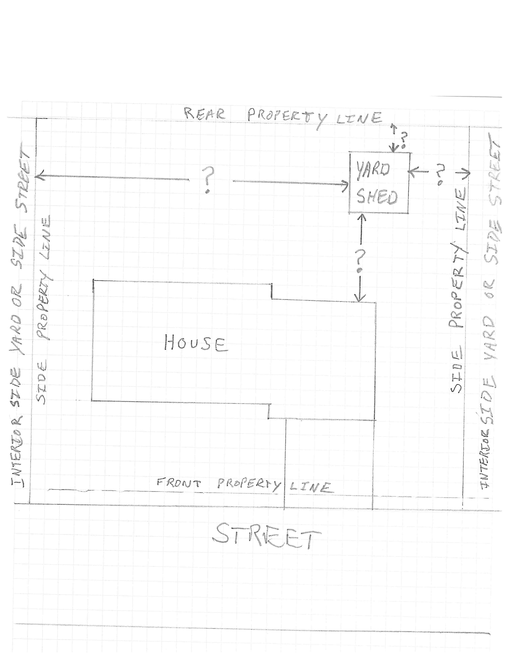 Sample Yard Shed Site plan png